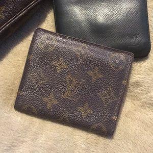 LV men's fold wallet